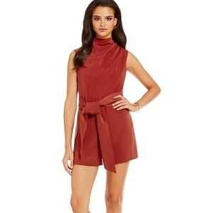 Keepsake Escape Playsuit/Romper in Barn Red